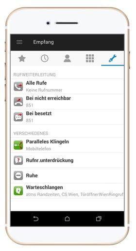 Beispiel für VoIP am Handy
