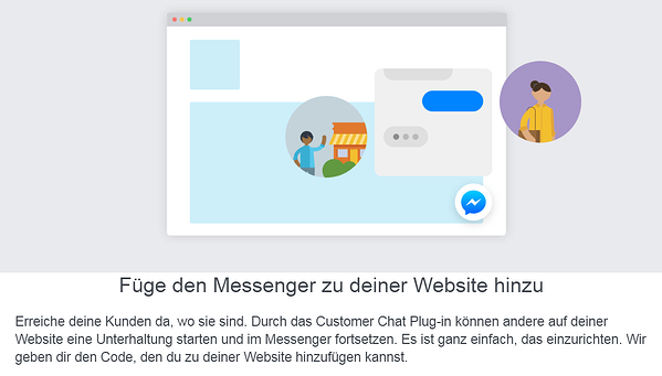 Social Media Customer Service Messenger verknüpfen