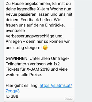 WhatsApp für Events Feedback einholen