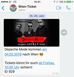 WhatsApp-Newsletter bei Events
