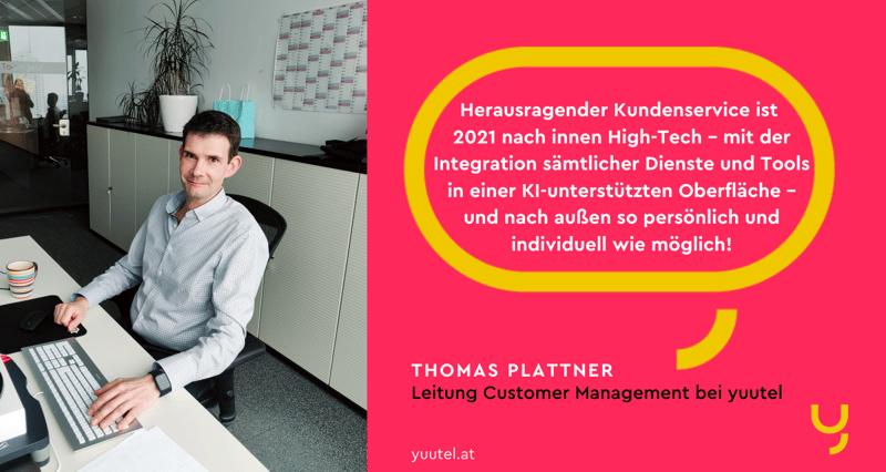 Thomas Plattner, Leitung Customer Management bei yuutel: Was macht Kundenservice 2021 aus?